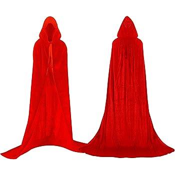 Labellevie Largo Capa con Capucha Terciopelo Disfraz de Halloween ...