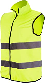 RFX+CARE Reflective Vests High Visibility Safety Vest Zipper Front with Reflective Strips for Running Working