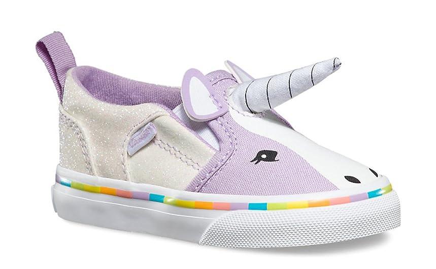 Vans Girls Asher V Purple Unicorn Shoes Sneakers