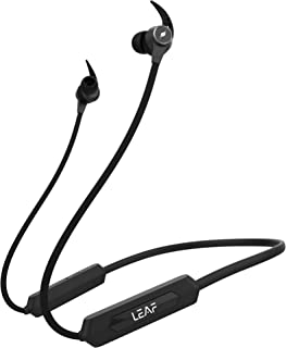 Leaf Rush Wireless Bluetooth in Ear Neckband Earphone with Mic (Carbon Black)