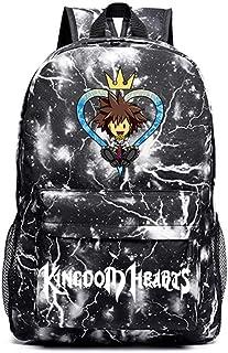 Kingdom Hearts Mochila Casual Mochila antirrobo Aprobada en Vuelo Lleve en la Bolsa Mochila Informal Bolso Escolar para Hombres Unisex (Color : Black01, Size : 30 X 14 X 45cm)
