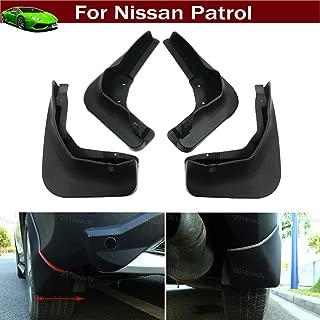 Tiantian New 4pcs Car SUV Mud Flap Splash Guard Mud Guards Fender Mudguard Mudflap for Nissan Patrol 2011 2012 2013 2014 2015 2016 2017 2018 2019 2020