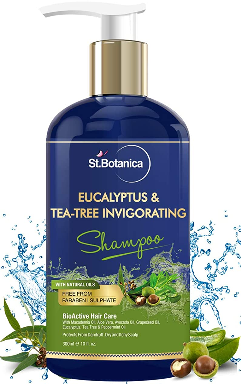 勇気飲食店ラオス人StBotanica Eucalyptus & Tea Tree Oil Hair Repair Shampoo - 300ml - No SLS/Sulphate, No Parabens, No Silicon