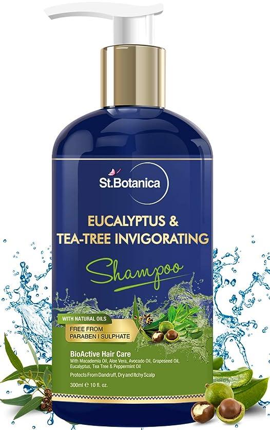 護衛保証するマントStBotanica Eucalyptus & Tea Tree Oil Hair Repair Shampoo - 300ml - No SLS/Sulphate, No Parabens, No Silicon