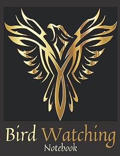 Gold Bird Watching Notebook: Bird Watcher Gifts - Paperback Journal to write in