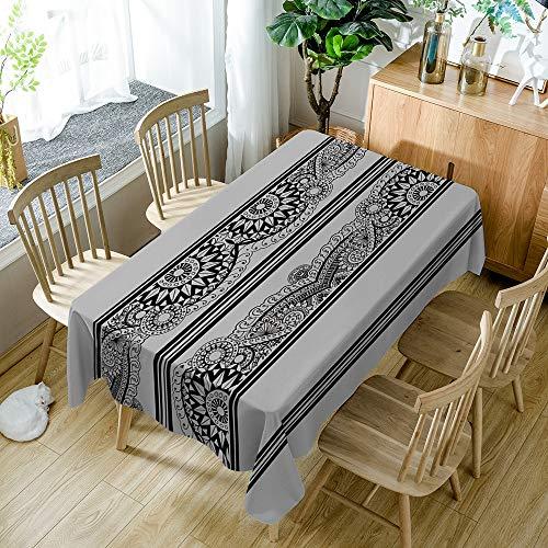 Tafelkleed Geometrisch Retro Afdrukken Modern Minimalistisch Geruit Tafelkleed Wegwerp Wassen Oliebestendig Brandwonden Huishoudelijke artikelen 55X78 inch