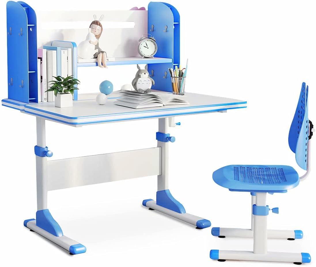 SÄKEE Max 49% OFF Kids Desk with Chair Set Adjustable Jacksonville Mall Children Height Sch