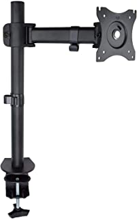 Star Single Desk Monitor Stand with Clamp for LCD LED Computer Displays 13 to 27 Inch-Heavy Duty Lift Articulating Arm Mou...