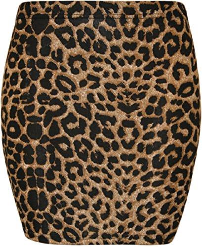 Damen Minirock mit Leopardenmuster, figurbetont, Stretch, Größe 34-40 Gr. 46/48, leopardenmuster