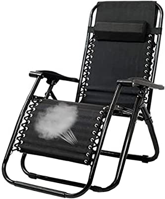 KYSZD-Rails d'aide au lit Outdoor Portable Recliner for Camping Fishing Beach Casual Relaxation Oblique Chair Adjustable Recliner Chair Ergonomic Design Black