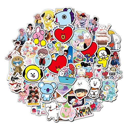 yanqiu Elegante 110 STKS Bangtan Jongens BTS Stickers Adhensive koffer Bagage PVC DIY Stickers Kleur afbeelding