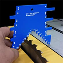 Sierra de mesa CFJJOAT y medidor de profundidad de sierra de mesa, medidor de profundidad de claridad final de aluminio