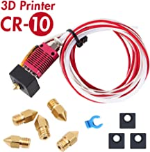 Creality Original 3D Printer Extruder Assembled MK8 Hot End Sprinkler Kit for Creality CR-10 CR-10S S4 S5 3D Printer with Silicone Boots and 0.4mm Nozzle