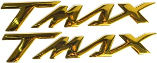 ZAIXU Motorcycle 3D Raise Fuel Oil Tank Rear Sign Emblem Sticker Side Decal for Applies for Yamaha TMAX 500 530 T Max T-Max 500 530 (Gold)