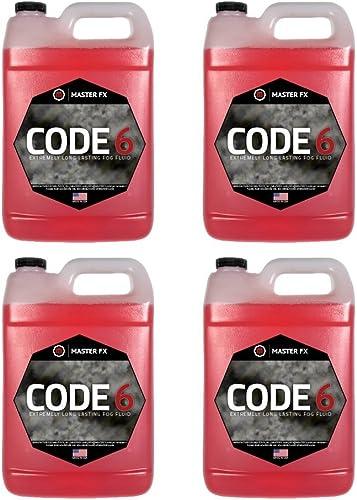 Code 6 Fog - Extremely Long Lasting Fog Fluid - 4 Gallon Case