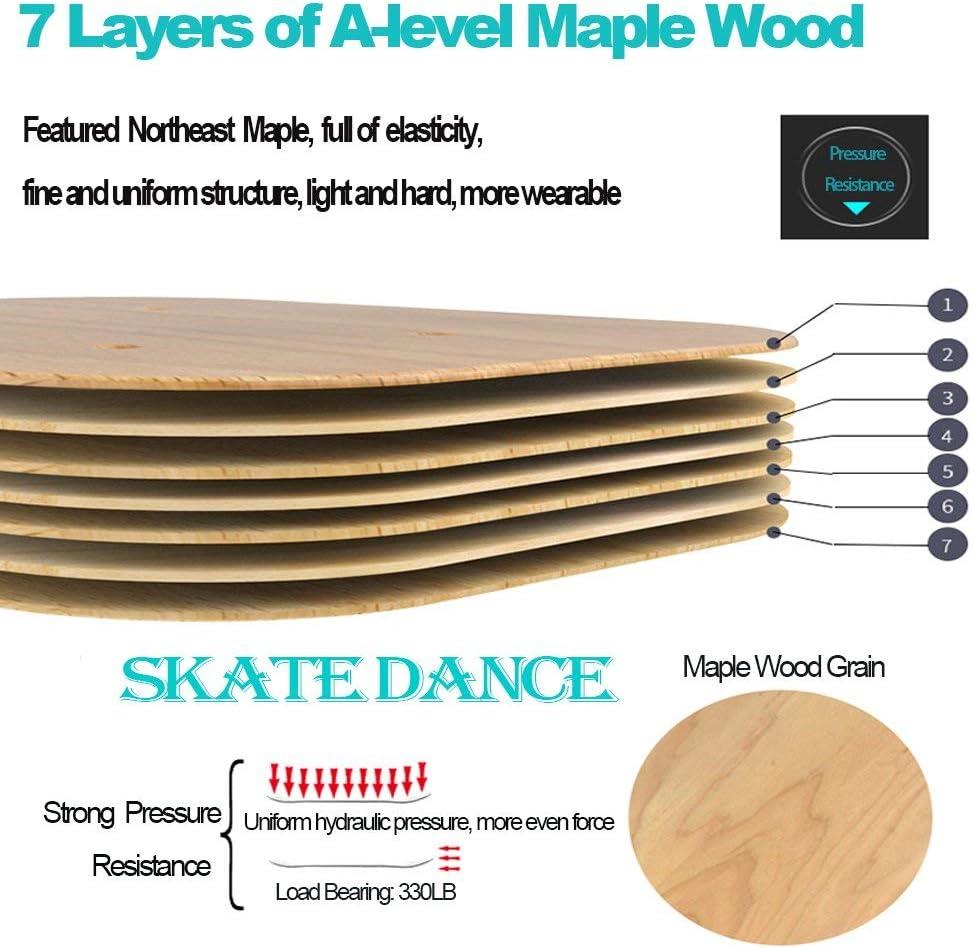 Molizhi Drift Board Portable Drift Roller Skates Plate with Maple Deck Split Skateboard Anti-Slip Board Trucks with PU Wheels Sandpaper High-end Bearings Flexible and Lighter