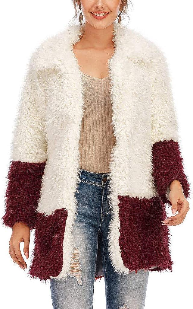 SERYU Boston Mall Womens Faux Fur' Long Patchwork Waistcoat Warm Genuine Sleeve Body