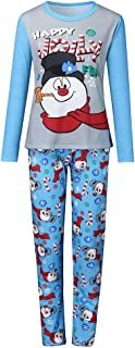 LENXH Letter Printing Set Christmas Parent-Child Wear Casual Home Service Suit Fashion T-Shirt + Printed Pants