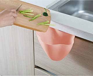 Thrifty Shopper Kitchen Cabinet Door Hanging Trash Garbage Bin Can Rubbish Container - 1 Pc (Pink)