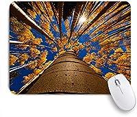 VAMIX マウスパッド 個性的 おしゃれ 柔軟 かわいい ゴム製裏面 ゲーミングマウスパッド PC ノートパソコン オフィス用 デスクマット 滑り止め 耐久性が良い おもしろいパターン (森秋木日没自然自然)