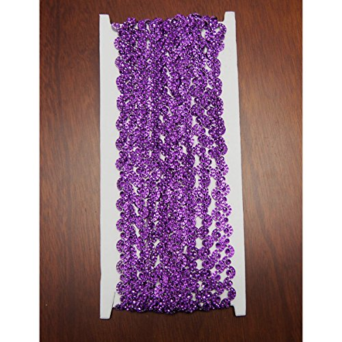 Homeford Purple Wave Rhinestone Trim Strand, 7mm, 10 Yards, 7 mm