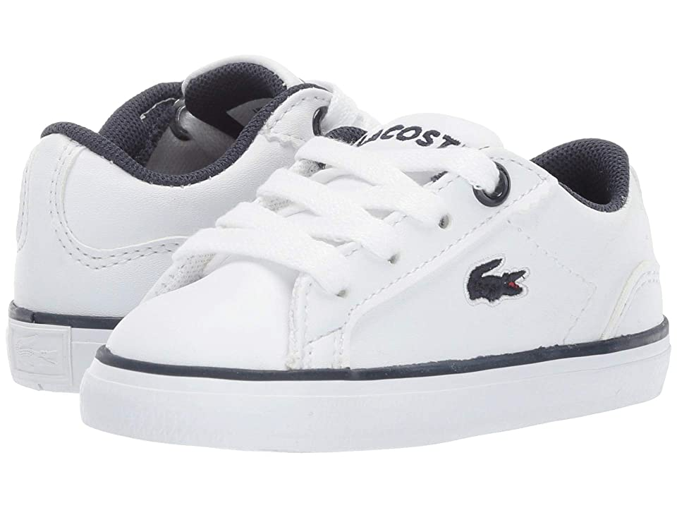 Lacoste Kids Lerond BL 2 CUI (Toddler/Little Kid) (White/Navy) Kid