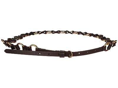 Frye 12 mm Ring Belt (Black) Women