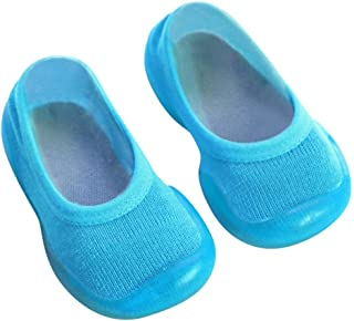 Dolloress Soft Rubber Shoes Baby Socks Slippers with Anti-Slip Bottom for Newborn Baby Boys Girls Toddlers for Kids 0 to 24 Months 2-6 Years