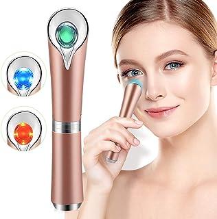 جراحت ماساژور چشم با 42 ℃ حرارتی و ارتعاش صوتی برای محافل تاریک، خستگی و خستگی چشم، ضد چین و چروک، وسیله ای برای مراقبت از پوست ماساژ دهنده ی USB به صورت Rechargeable Facial، Rose Gold