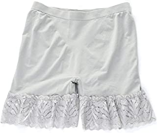 Bontand Summer Lace Safety Short Pants Large Size Under Skirts Seamless Modal Lace Ladies Underwear Beige