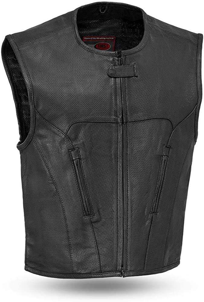 First Mfg Co Men's Motorcycle Leather Vest