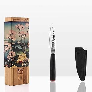KOTAI - Couteau d'Office (Couteau ou Couteau à Fruits) - Lame de 10 cm - Fabriqué et Aiguisé à la Main - Acier Inoxydable ...