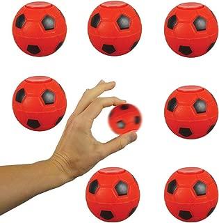 Entervending Fidget Spinner Balls 2 inch - Fidget Toys for Sensory Kids - 12 pcs in Bulk - RED