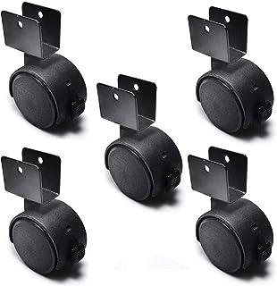 Zwenkwiel Bewegende zwenkwielen Set van 4 U-vormige zwenkwielen Meubelwielen 2 inch met rem 66x50x20mm Kleurnaam: Zwarte z...