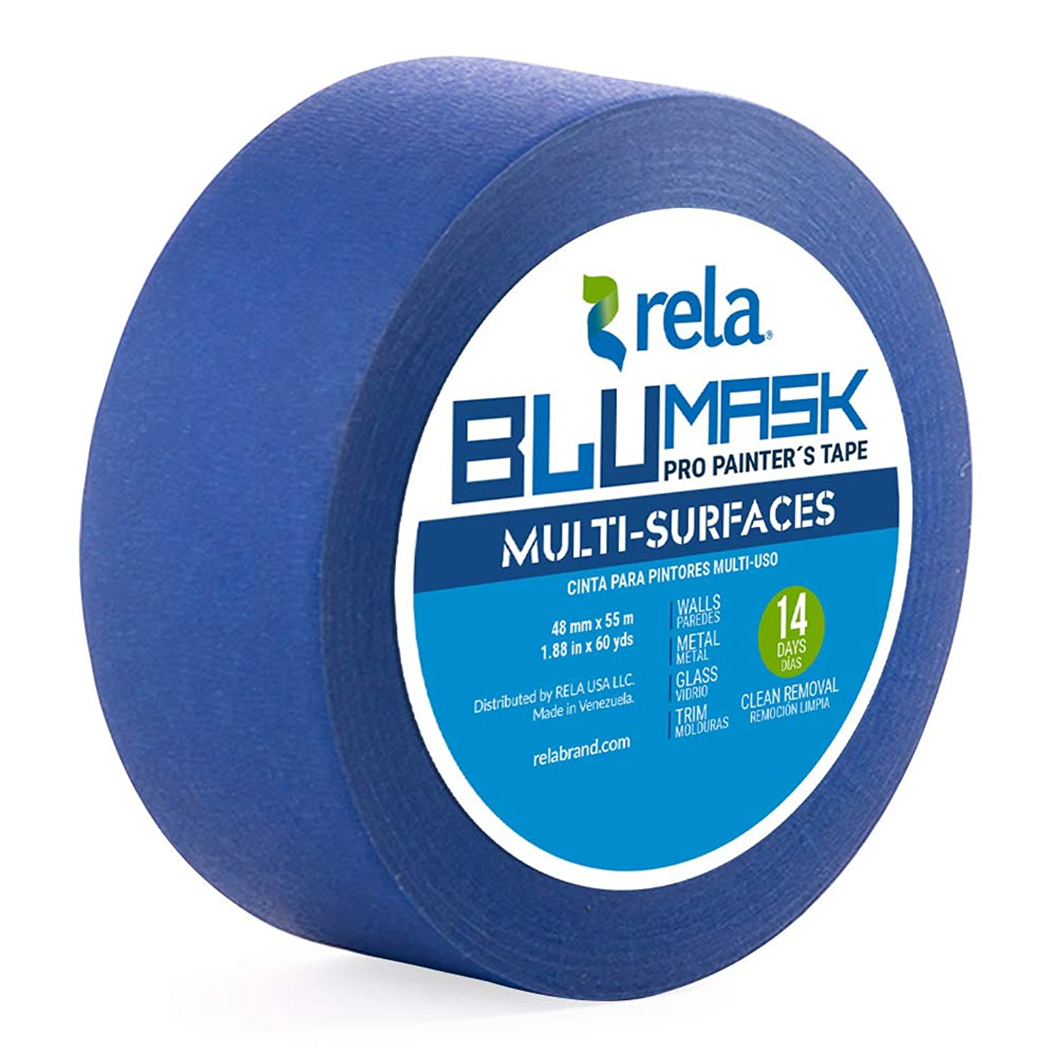 rela Blumask Painter′s Tape Multi-Surfaces, 1.88-Inch by 60-Yard, 1 Roll (1 Pack)