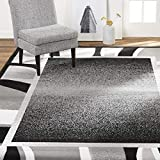 Home Dynamix Lyndhurst Rotana Modern Area Rug, Contemporary Black/Gray 5'2'x7'4'