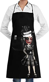 Lao Yang Mai Animated Gothic Scary Girls BBQ Waiter Housekeeper Pet Grooming Bartender Kitchen Beautician Hairstylist Nail Salon Carpenter Shoeing Wood Painting Artist Pocket Apron