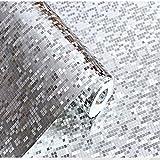 Fotomural 3D de 10m de longitud retro en PVC, Plateado