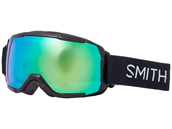 Smith Optics Grom CP Goggle (Youth Fit) (Black/Chromapop Everyday Green Mirror) Snow Goggles