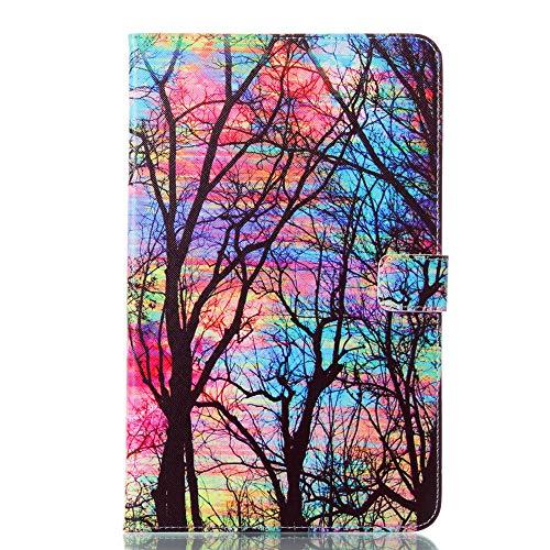Zhuhaimei,Etui en Cuir Coloré pour Samsung Galaxy Table A6. T580 T580n T585 T585c Etui pour Tablette(Color:Multicolore)