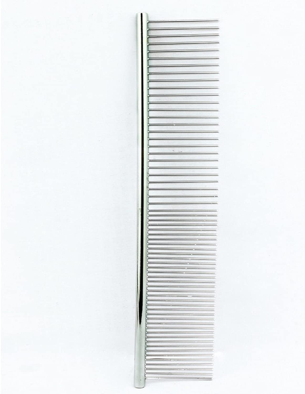 Pet Straight Comb, Cute Stainless Steel Brush Mini Portable Fine Dense Toothed Comb for Removing Matted Fur, Knots & Tangles