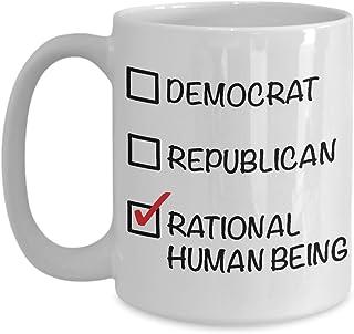 Libertarian Coffee Mug - Political Gifts - Political Parties - Political Junkie - Rational Human Being Funny Coffee Mug 15oz