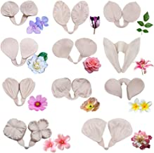 22pcs Gumpaste Flowers and Leaves Silicone Mold-Fondant Flower Silicone Veining Mold Gum Paste Flower Tools for Wedding Cake Decoration,Sugar Paste, Soap, Chocolate, Polymer Clay