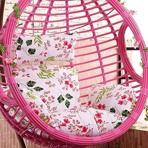 Mutmi Jardín Mecedora Rattan Hanging Yuany Terraza Presidente Dentro de Huevo Exterior Almohadas y Mantas, tamaño, 50 x 56 Pulgadas (de Color, A) (sin Silla),H