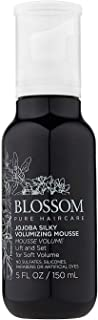 Jojoba Silky Volumizing Mousse - Blossom - Products to Lift and Set Hair for Soft Volume (5 oz.)