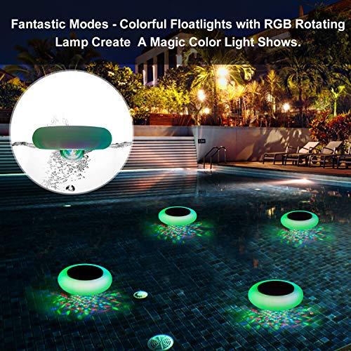SUNWIND Swimming Pool Lights Floating Solar Underwater RGB Pond Lights Waterproof with Multi Color...