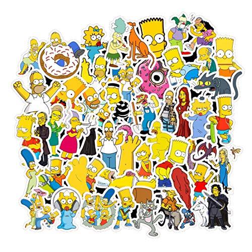 50pcs Divertido Anime Dibujos animados Simpson Simpsons Pegatinas de Graffiti para Moto Maleta Fresco Pegatinas Portátiles Pegatinas Pegatinas Niños