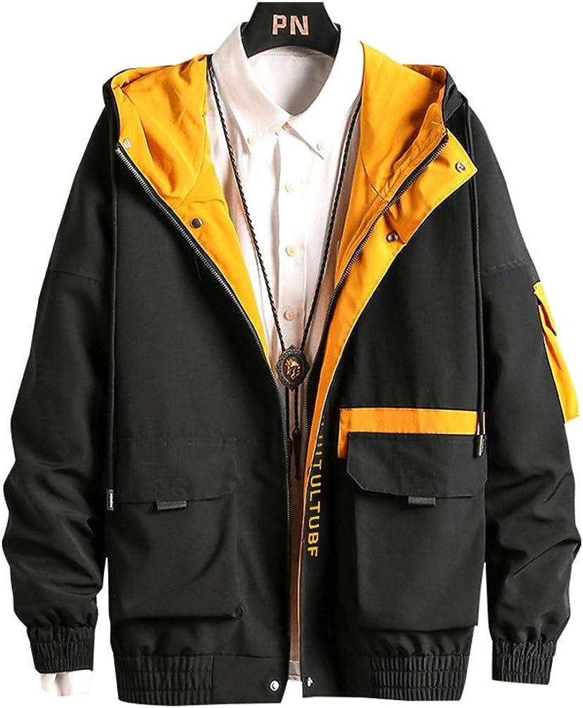 Men Hip Hop Windbreaker Coats Casual Jacket Men Cargo Bomber Jackets Streetwear