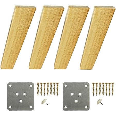 4 patas cuadradas de madera maciza, patas inclinadas para ...
