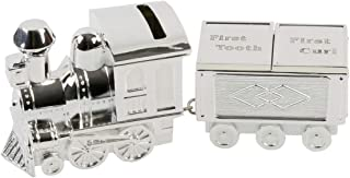 Silver Plated Train Money Box/First Tooth/First Curl/Bn by Legends